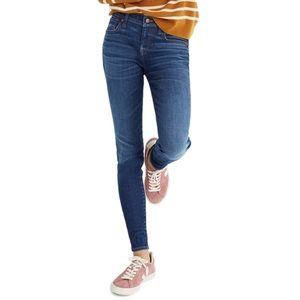 Madewell 8 Inch Dark Wash Skinny Jeans